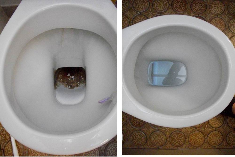 Toilet Bowl Stain Removal