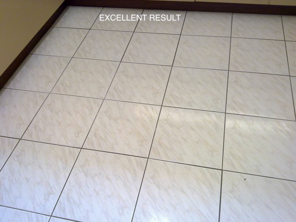 Kitchen Tiles and Grout After